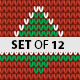 Christmas Background Set of 12 - GraphicRiver Item for Sale