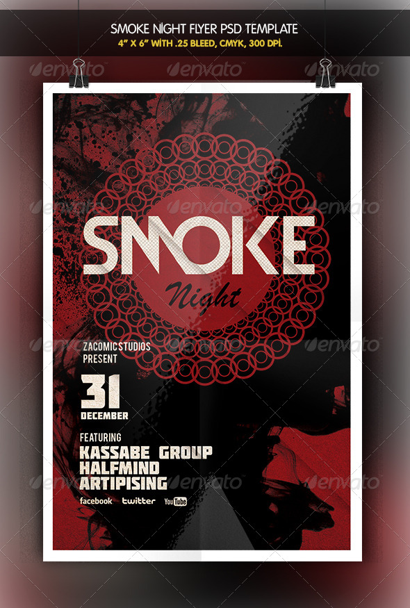 GraphicRiver Smoke Night Party Flyer 6422753