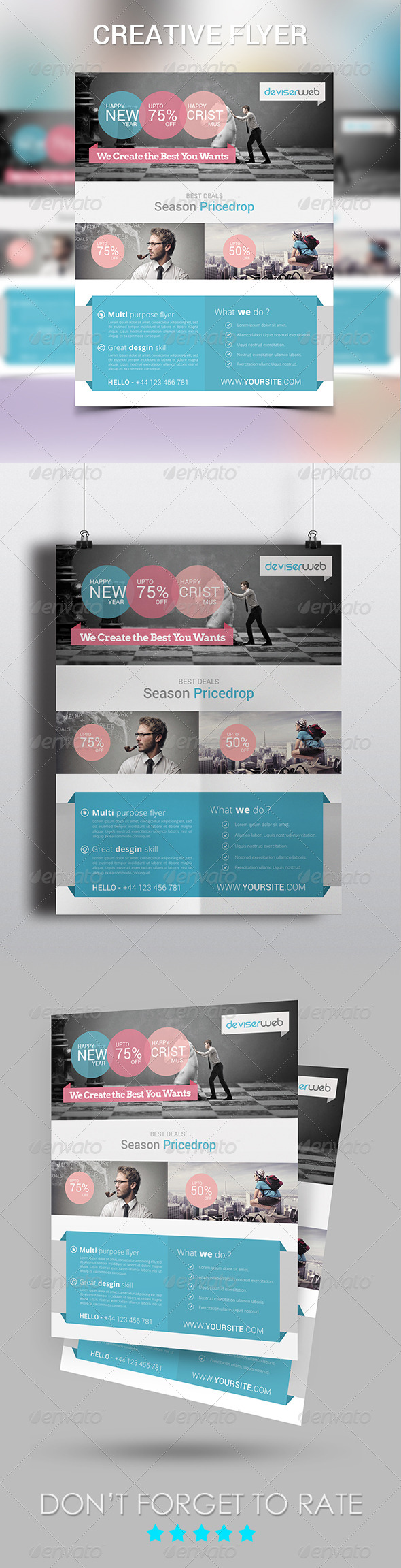 GraphicRiver Creative Design Agency Flyer 6422804