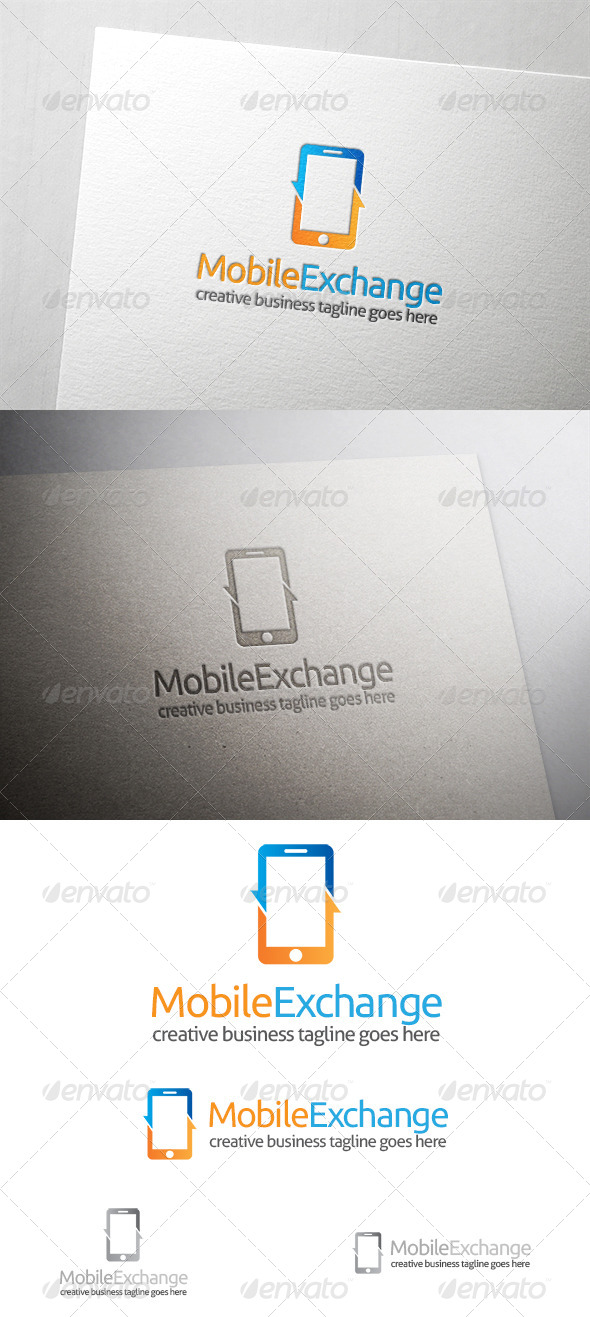 GraphicRiver Mobile Exchange Logo 6422894