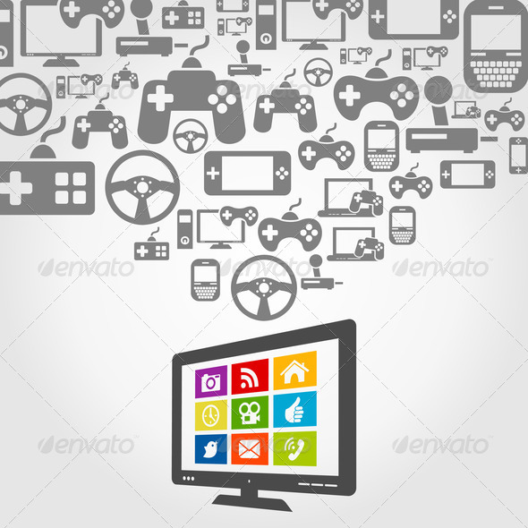 Computer game - Stock Photo - Images