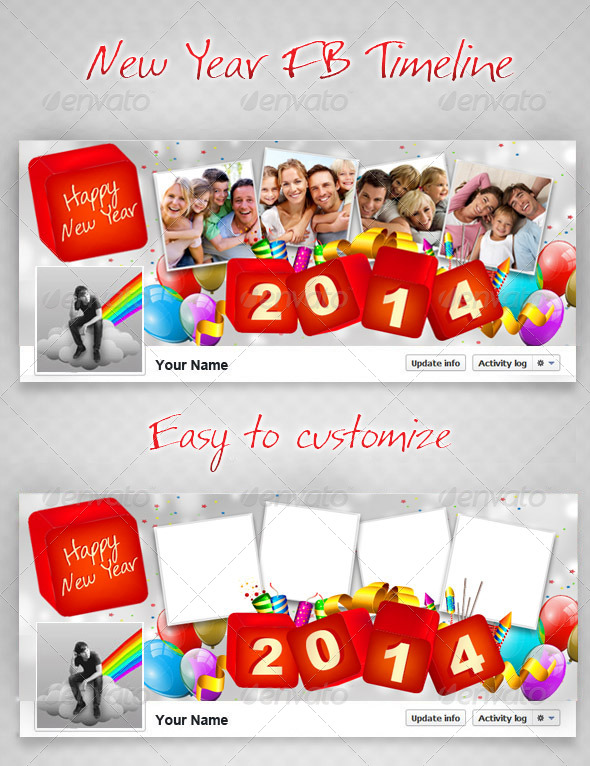 GraphicRiver New Year FB Timeline V2 6423122