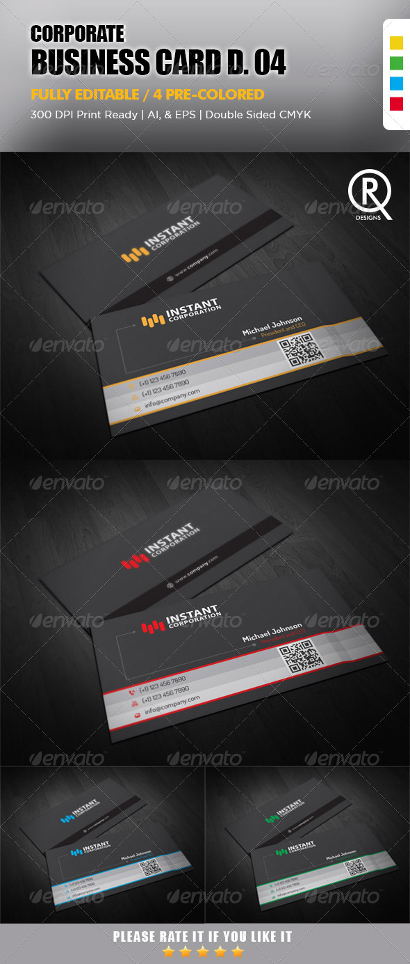 GraphicRiver Corporate Business Card 4 6423182