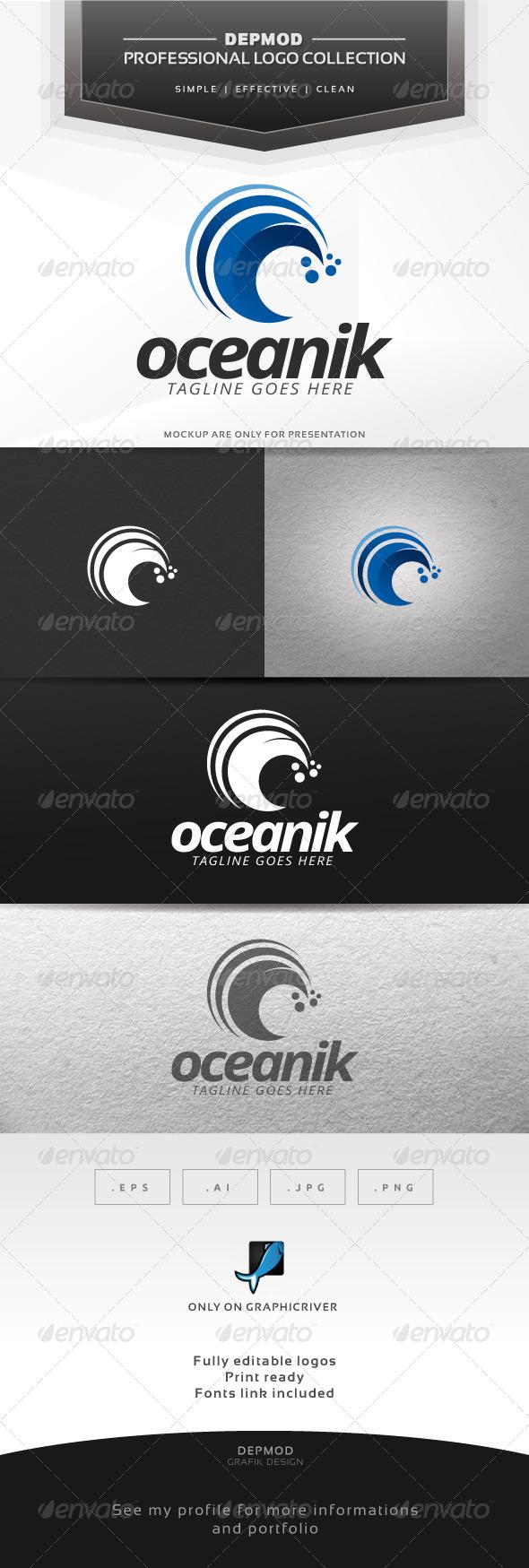 GraphicRiver Oceanik Logo 6423248