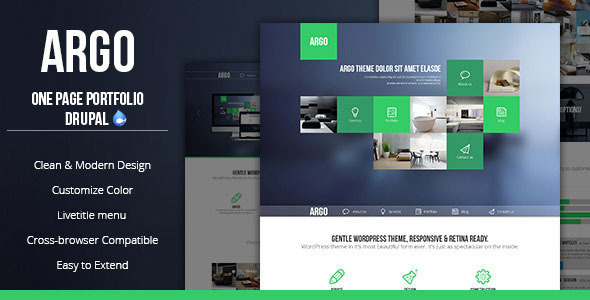 preview.  large preview - Argo - Modern OnePage Metro UI Drupal Theme