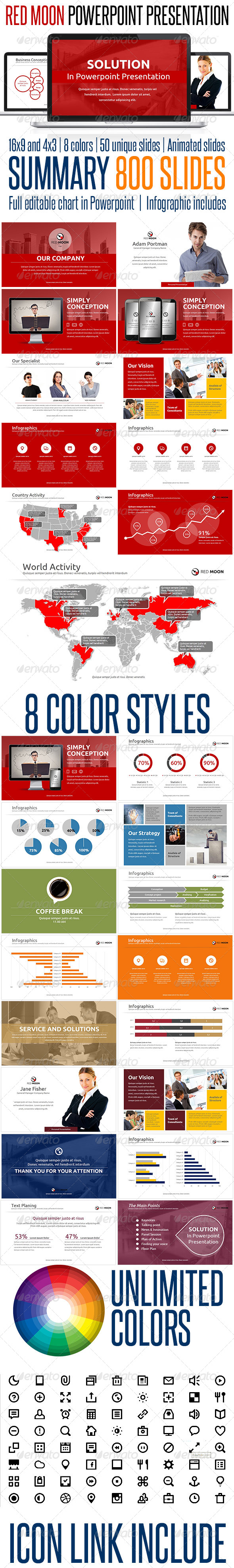 GraphicRiver Red Moon Presentation Powerpoint Solution 6423626