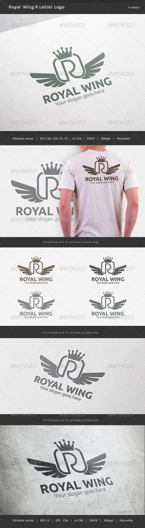 Royal Wing Letter R Logo