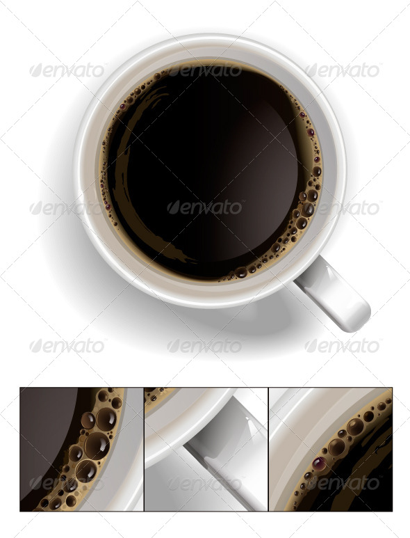 GraphicRiver A Cup of Black Coffee 6423672