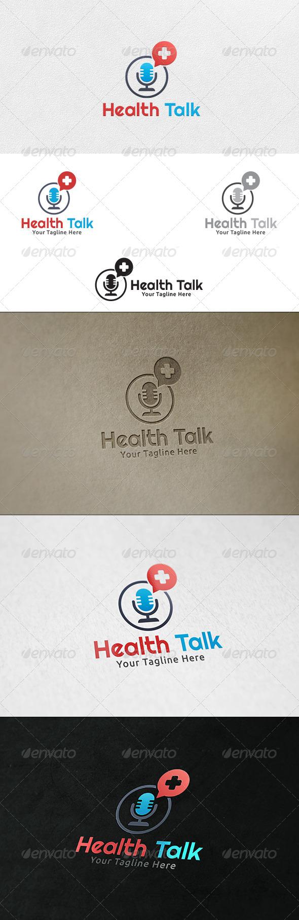 GraphicRiver Health Talk Logo Template 6423947