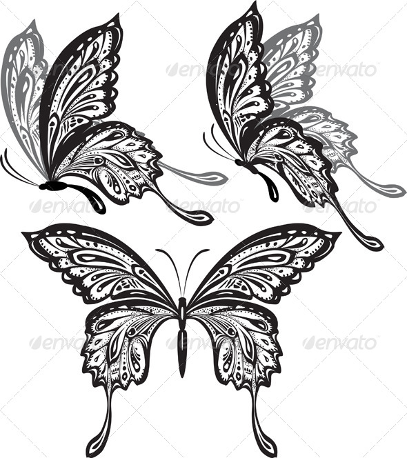 GraphicRiver Butterflies 6424026