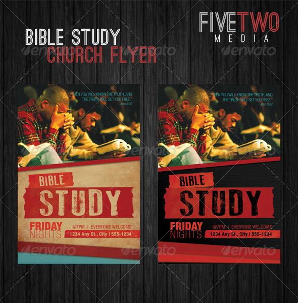 GraphicRiver Church Bible Study Flyer 6389963