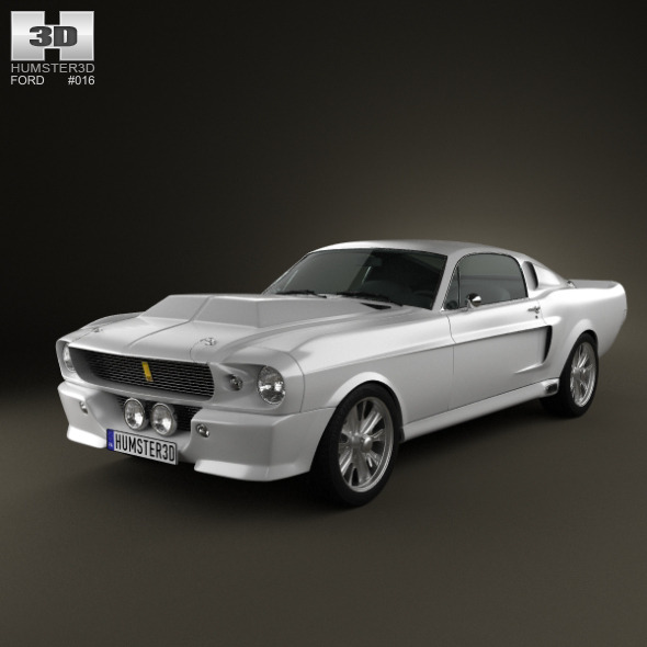 3DOcean Ford Mustang Shelby GT500 Eleanor 1967 670675