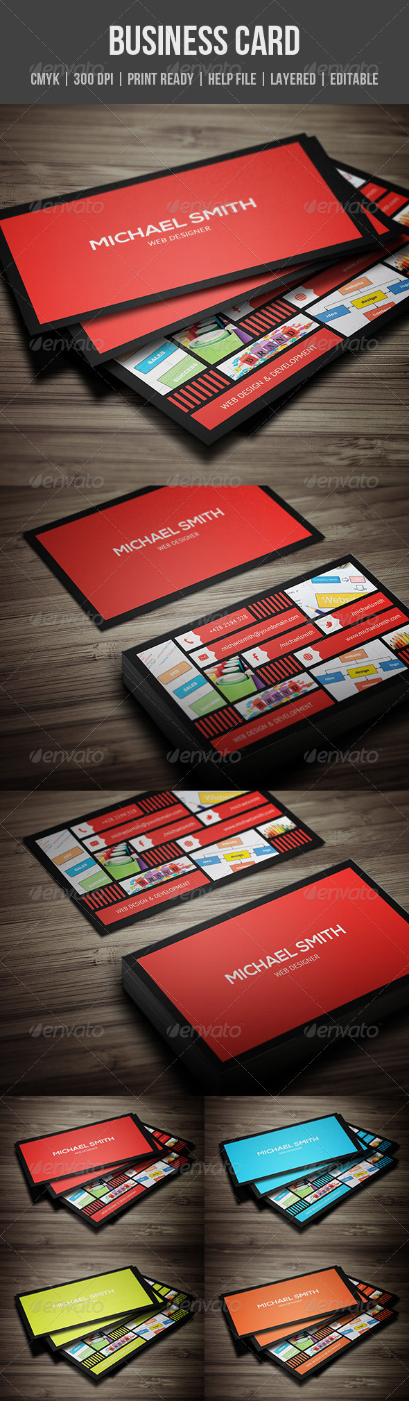 GraphicRiver Metro Style Business Card 6424257