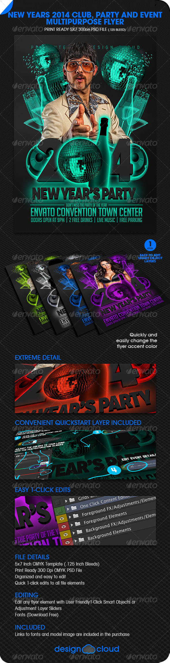 GraphicRiver New Year s 2014 Club Party and Event Flyer 6390772