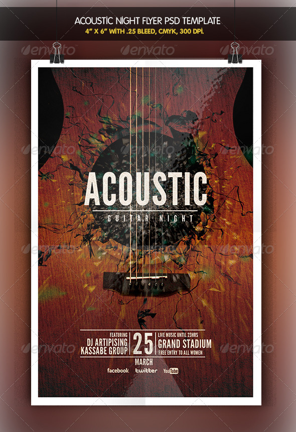 GraphicRiver Acoustic Night Unplugged Flyer 6424356