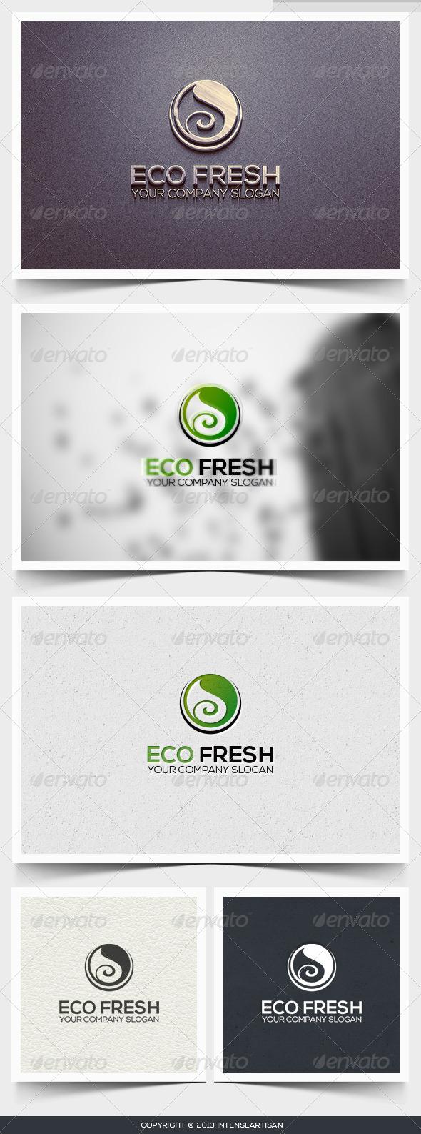 GraphicRiver Eco Fresh Logo Template 6424406