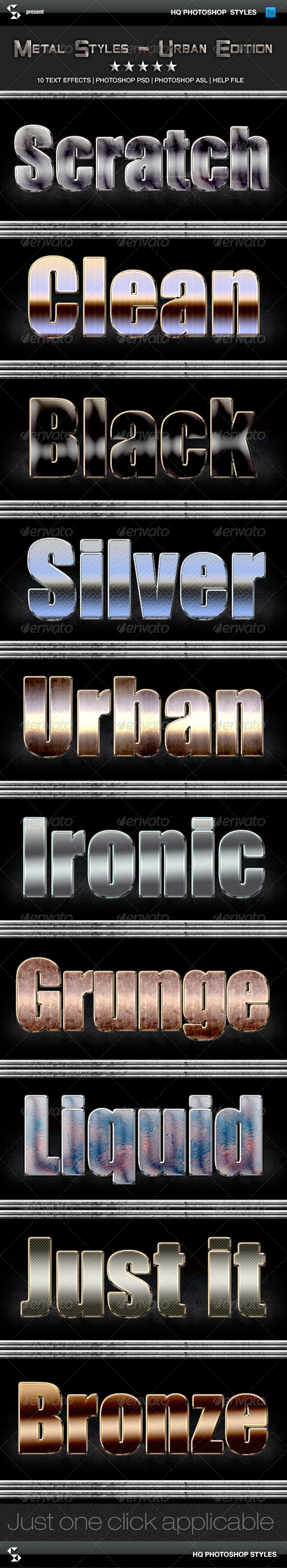 GraphicRiver Metal Styles Urban Edition 6424470