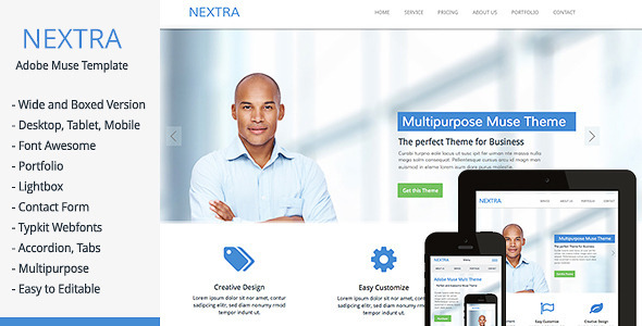 Nextra - Multi-Purpose Muse Template - Corporate Muse Templates
