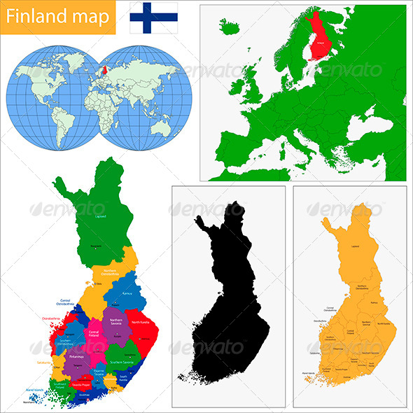 GraphicRiver Finland Map 6424632