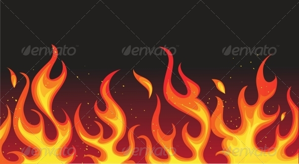 GraphicRiver Fire on Black 6424634