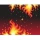 Hot Fire Background Banner