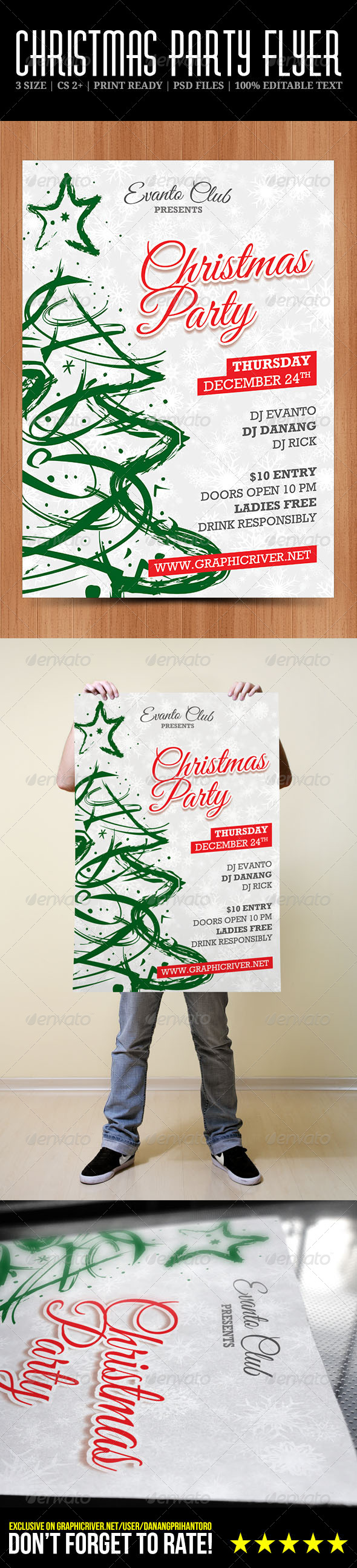 GraphicRiver Christmas Party Flyer 6391081