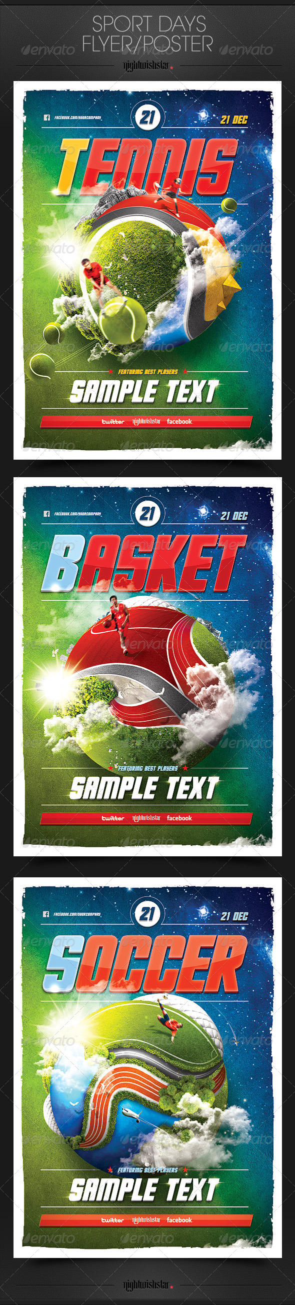 GraphicRiver Sport Days Poster Flyer 6424822