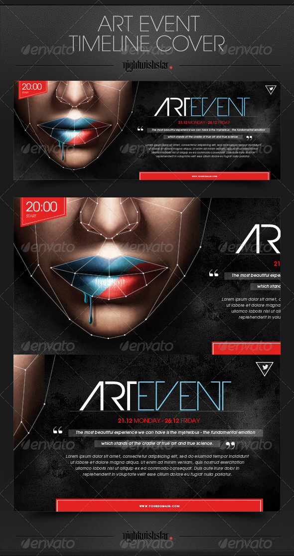 GraphicRiver Art Event Timeline Cover 6424834