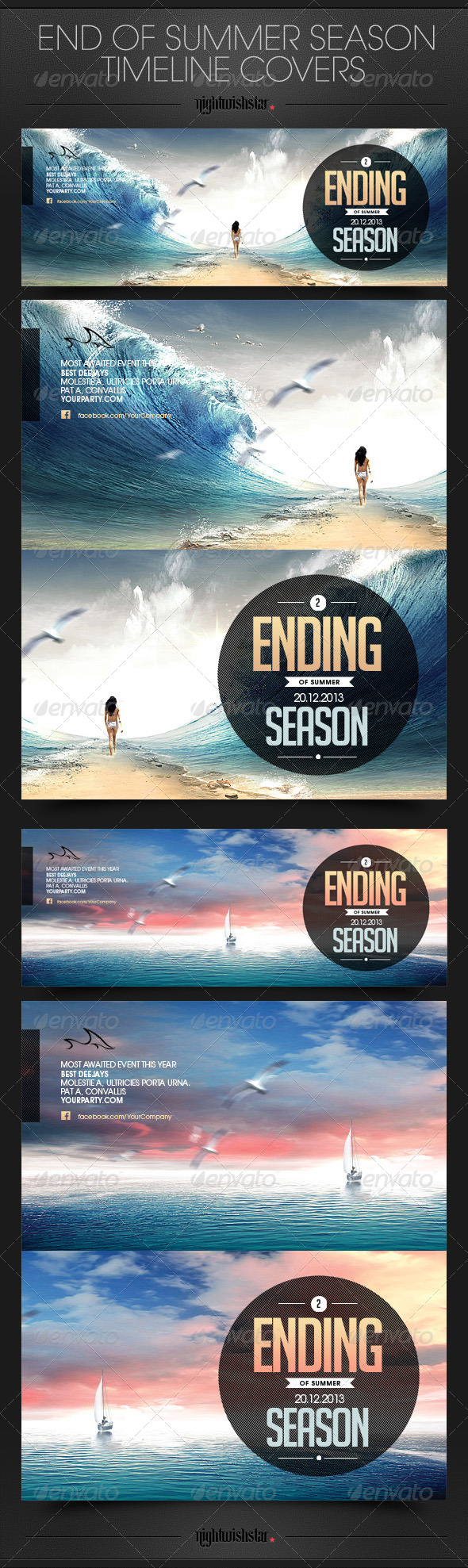 GraphicRiver End of Summer Season Timeline Cover 6424847