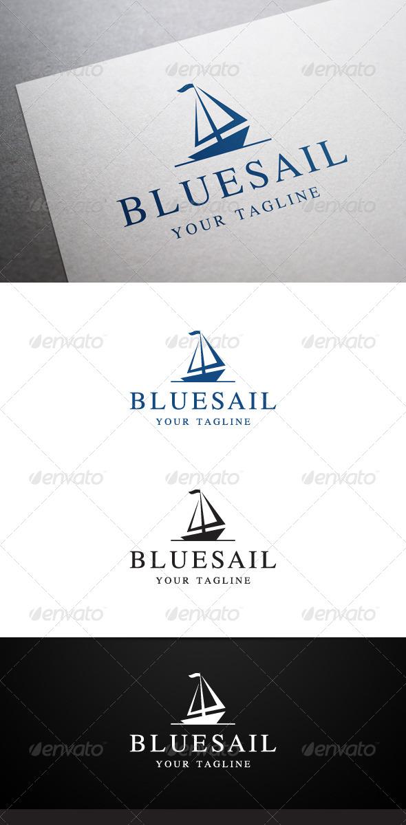 GraphicRiver Blue Sail Logo 6425307