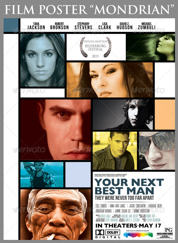 GraphicRiver Film Poster Mondrian 6425369