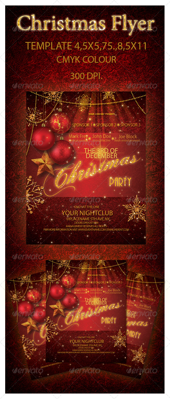 GraphicRiver Christmas Party Flyer 6390360