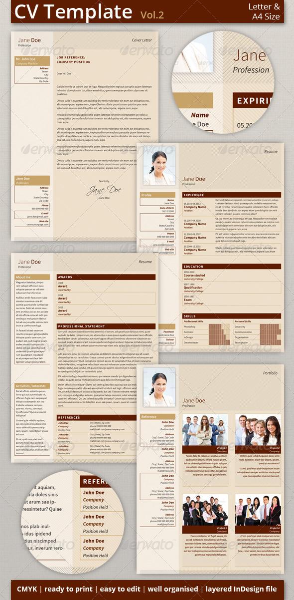 GraphicRiver CV Resume Template Set vol.2 6425692
