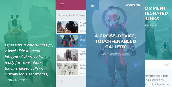 ThemeForest Monolith WP theme for bloggers and professionals 6425717