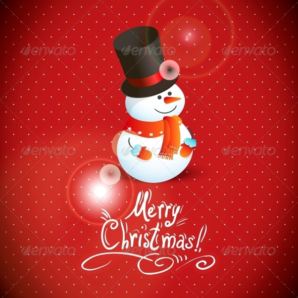 GraphicRiver Snowman Illustration for Christmas Design 6425825