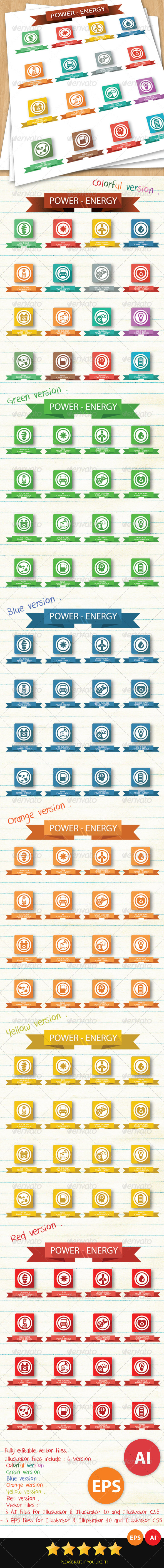 GraphicRiver Power & Energy Icons 6426453
