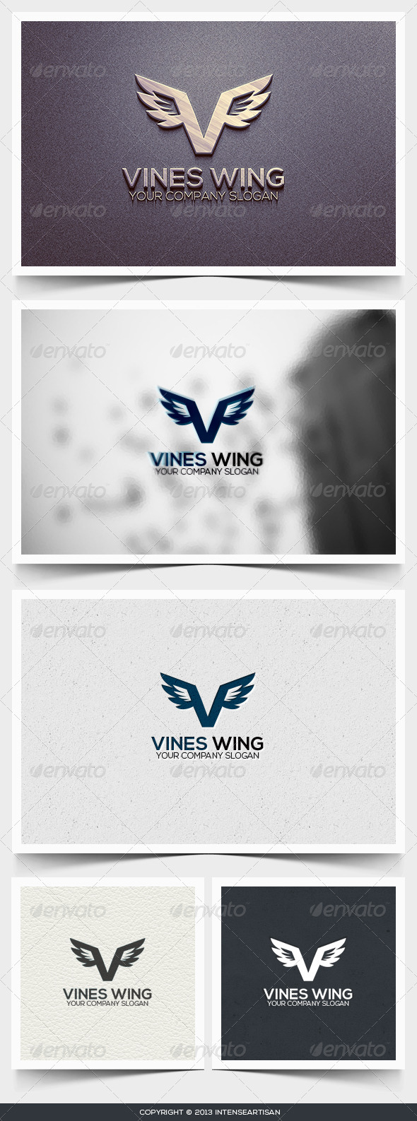 GraphicRiver Vines Wing Logo Template 6426637