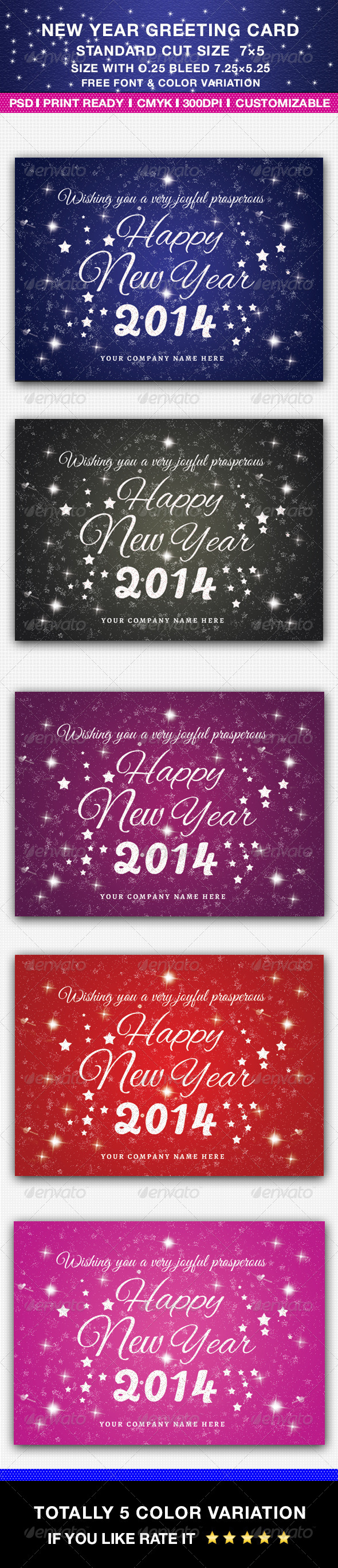 GraphicRiver New Year Greeting Card 6391166