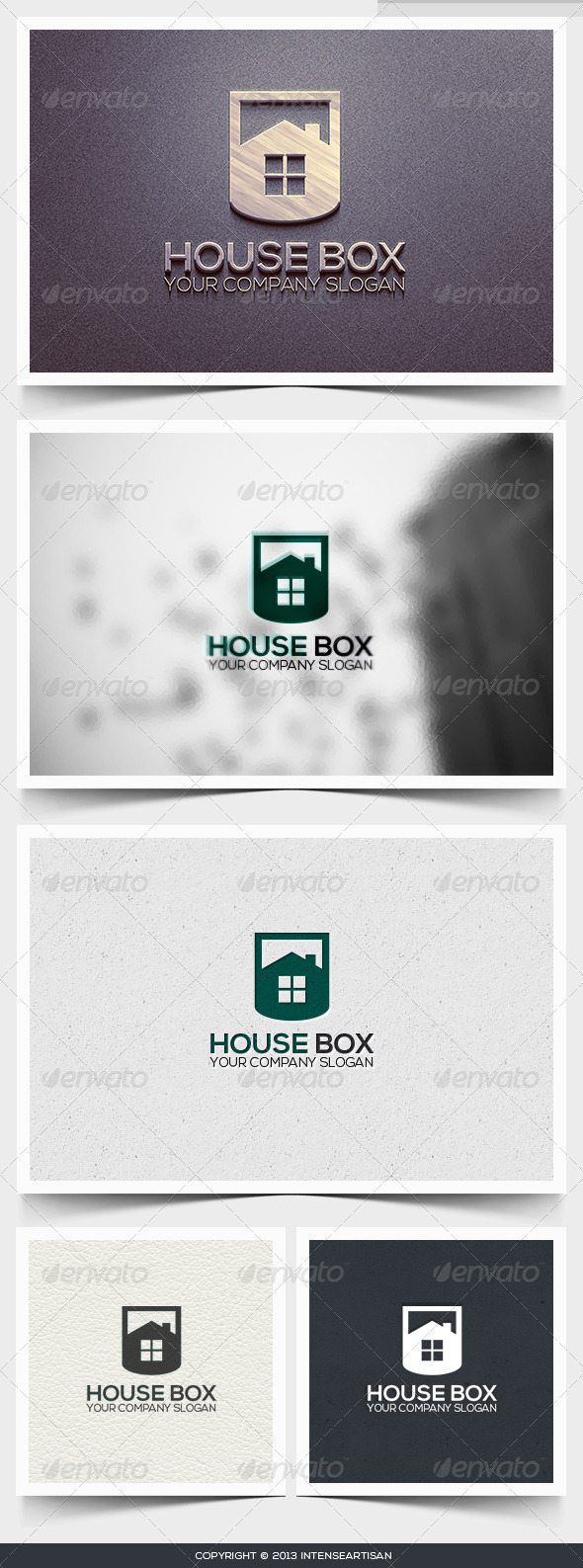 GraphicRiver House Box Logo Template 6426796