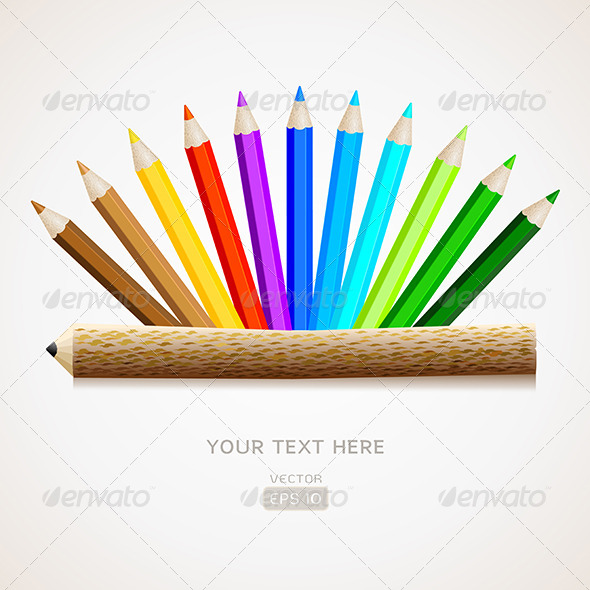 GraphicRiver Color Pencils with Pencil 6426862