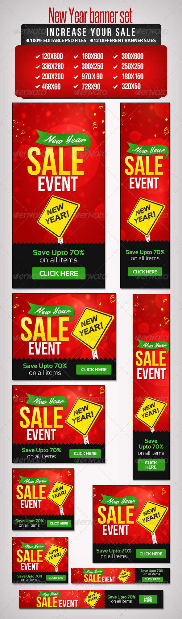 GraphicRiver New Year Sales Banner Set 2 12 Sizes 6426880