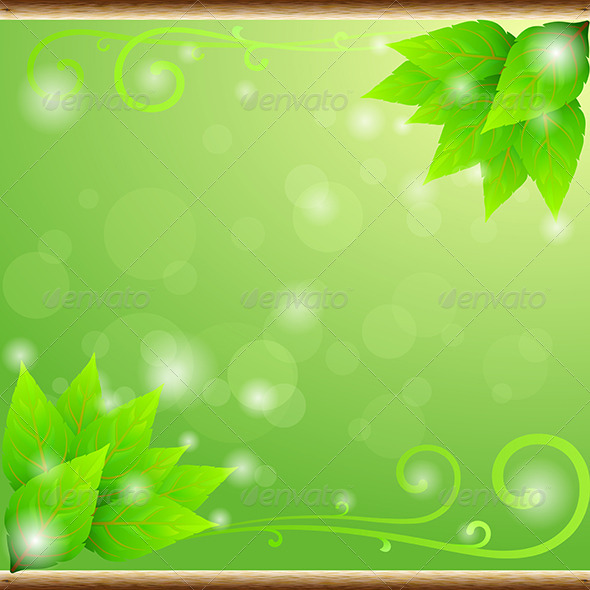 GraphicRiver Green Leaves Ecology Background 6426907