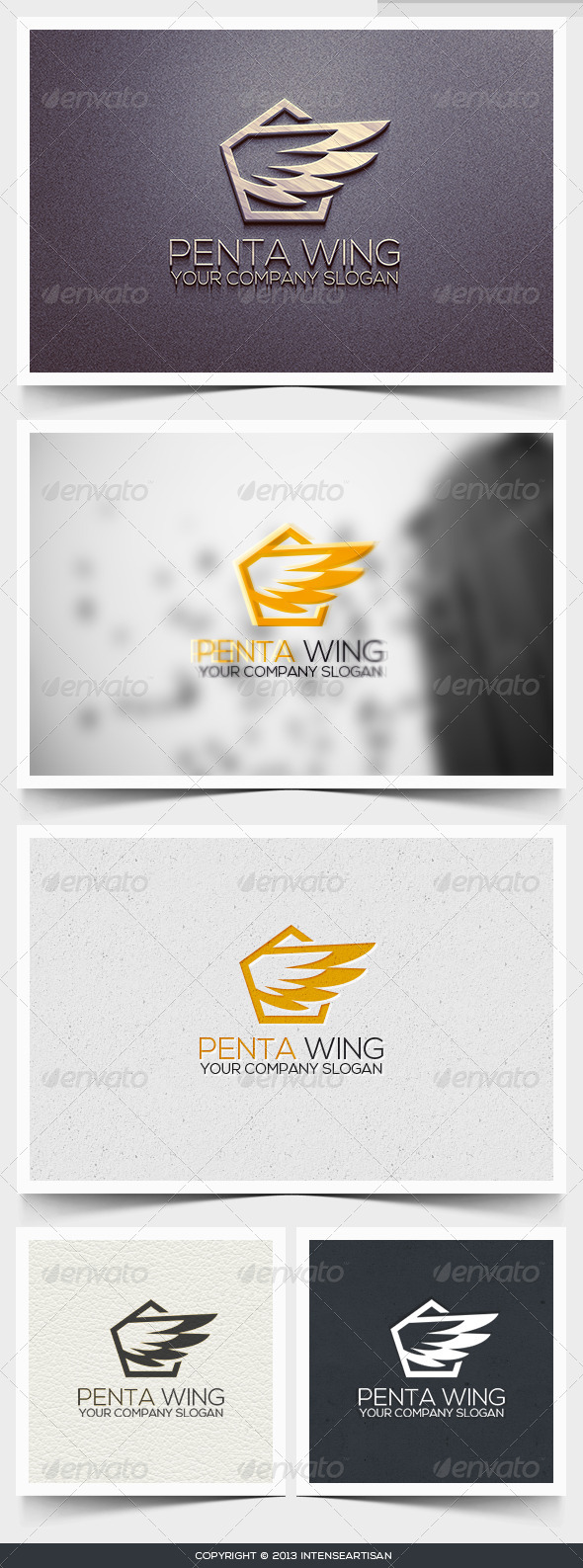 Penta Wing Logo Template - Objects Logo Templates