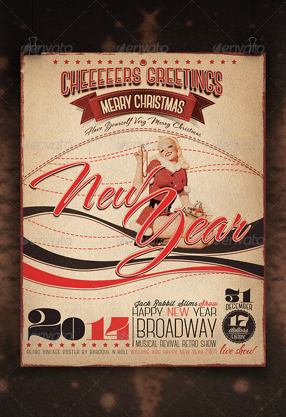 GraphicRiver 2014 New Year Retro 6428060