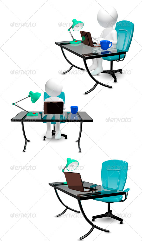 GraphicRiver Man at Table 6428101