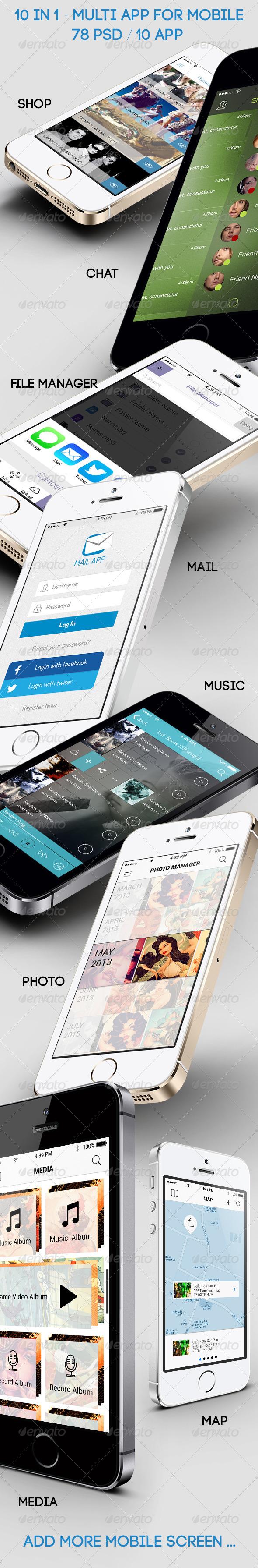 GraphicRiver 10 in 1 Multi App for Mobile Big Bundle 6428238