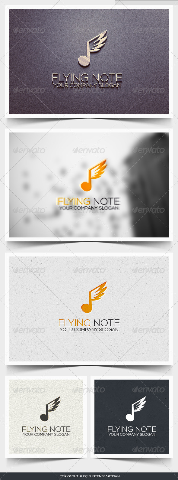 Flying Note Logo Template - Objects Logo Templates