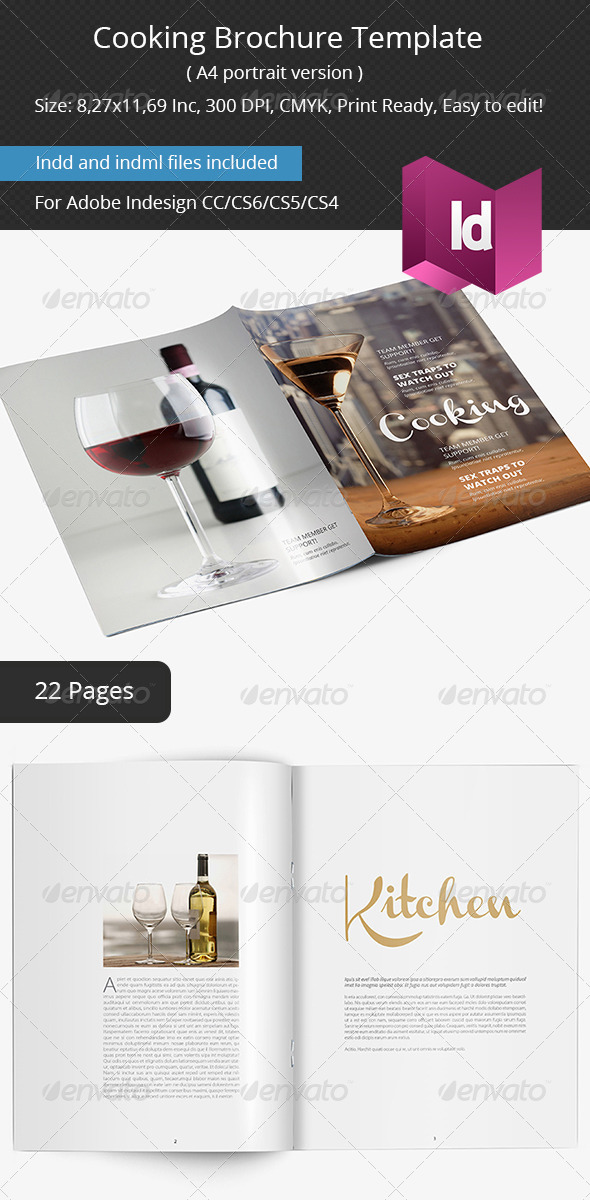 GraphicRiver Cooking Brochure Template 6428769