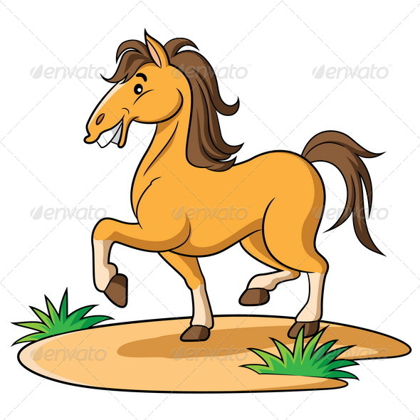 how to draw a cartoon horse running