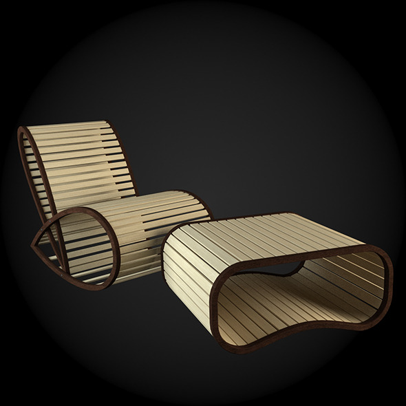 Garden Furniture 041 - 3DOcean Item for Sale